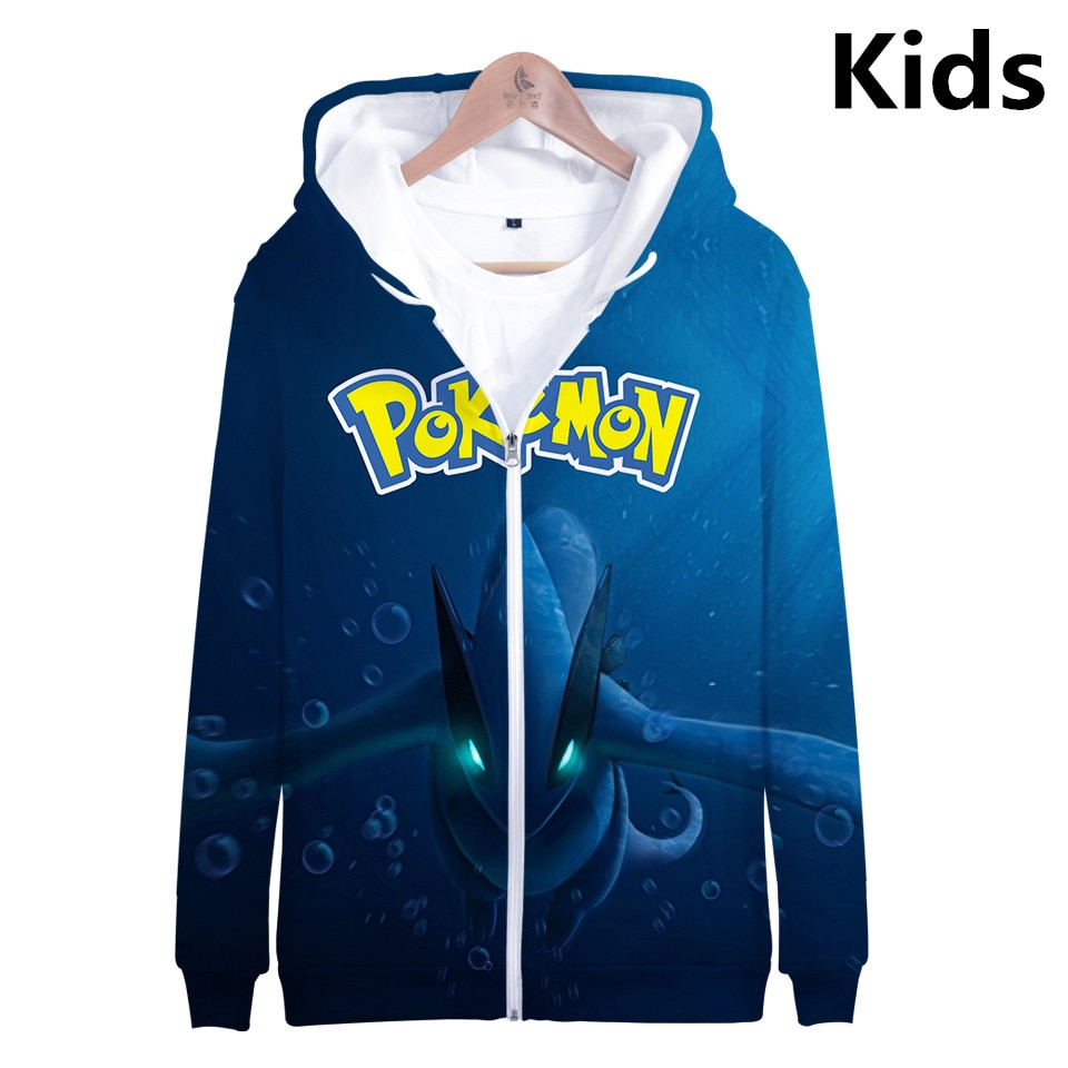 2 To 13 Years Kids Hoodies Pokemon Pikachu 3d Printed Hoodie Sweatshirt Boys Girls Cartoon Umbreon Jacket Coat Children Clothes