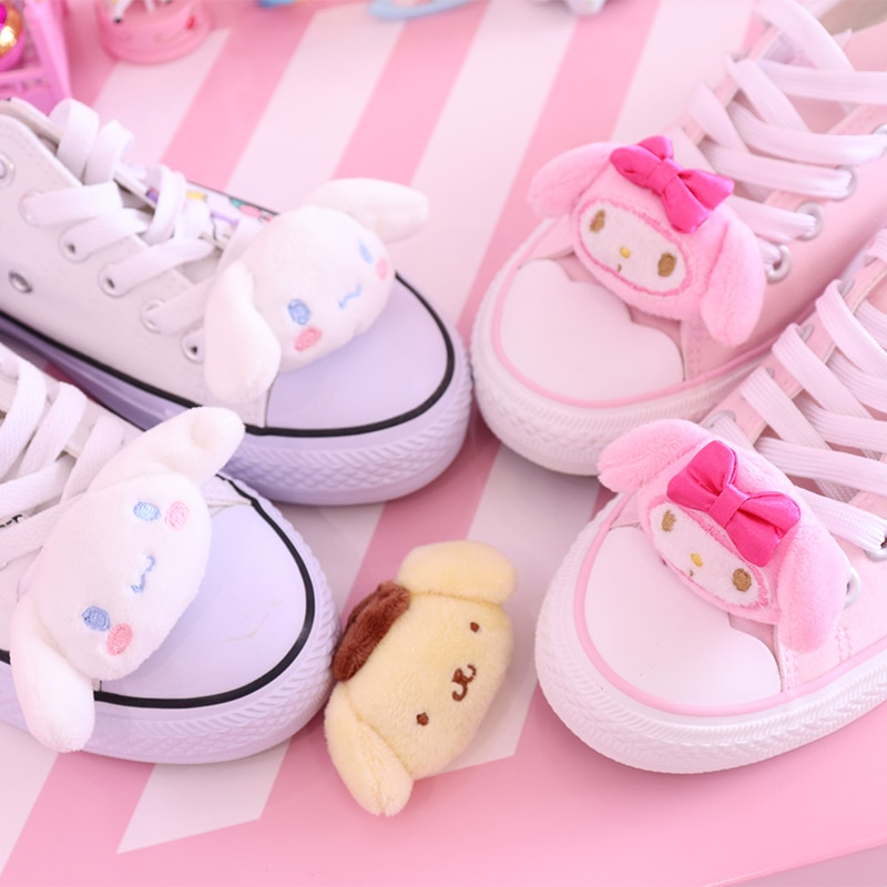 1PC Cute Melody Pudding Dog Stuffed plush doll For shoes buckles accessories charm decorations недорого
