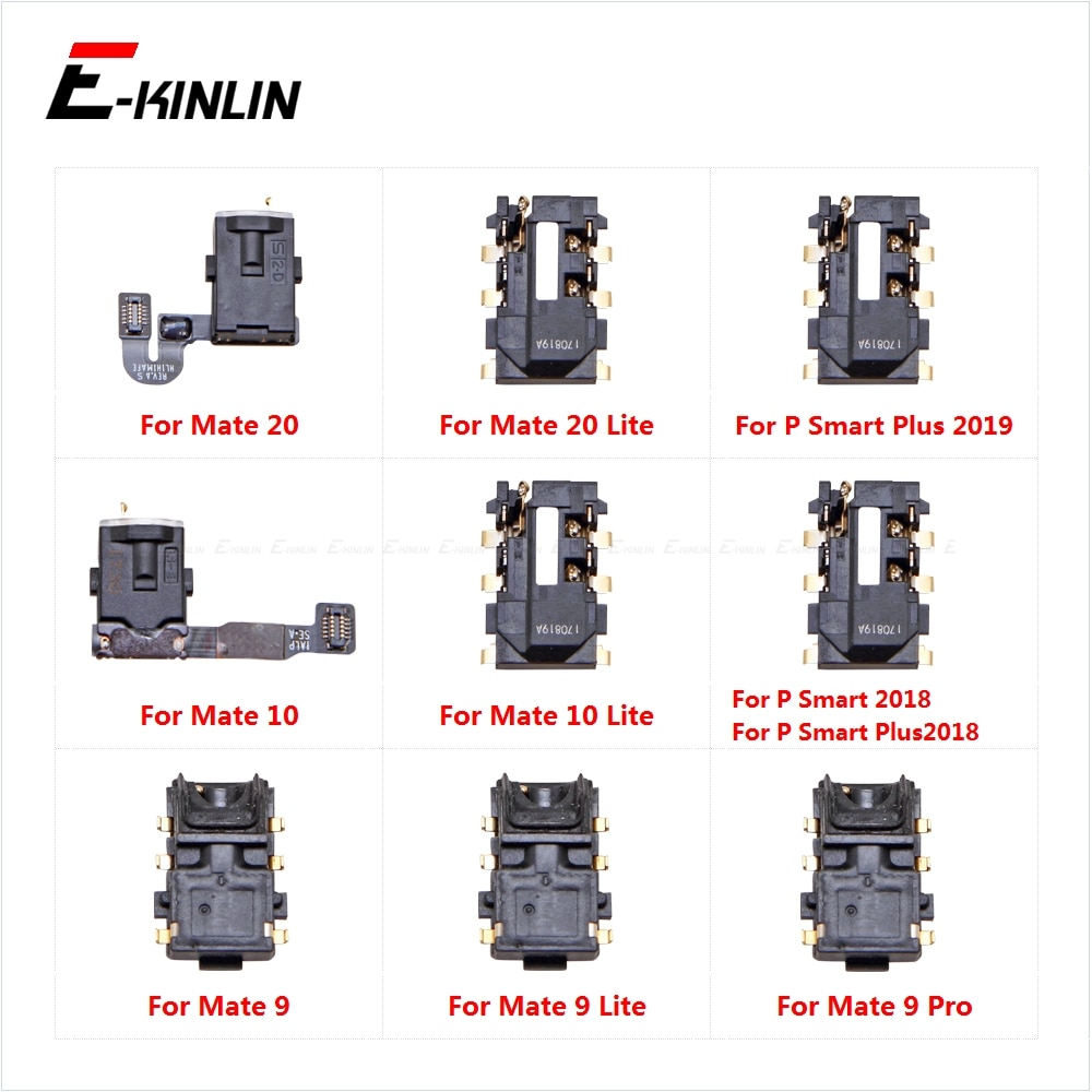 Auriculares de Audio Jack Flex de conector de puerto para HuaWei Mate 20 10 9 Lite Pro P Smart Plus 2019 de 2018 de la oreja auriculares de piezas de reparación