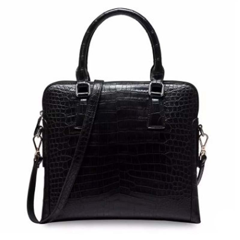 ourui new crocodile leather male  men briefcase  new  genuine crocodile leather  Men bags  men clutch bag