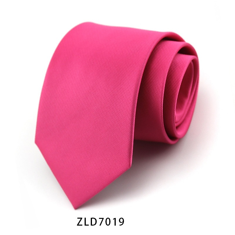 High Quality 2019 New Designers Brands Fashion Business Casual 9cm Slim Ties for Men Necktie Solid Color Wedding with Gift Box