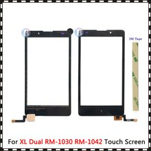 "Yüksek kalite 5.0 ""Nokia XL çift Sim RM-1030 RM-1042 dokunmatik ekran Digitizer sensörü dış cam Lens paneli siyah"