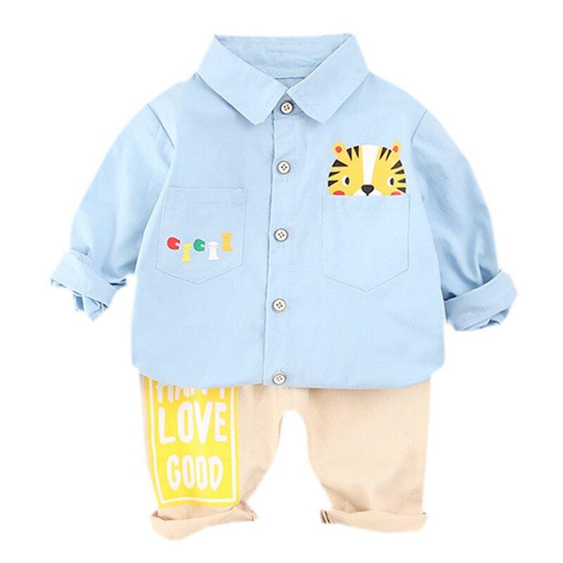 Children Clothing Set Baby Boys Clothes Spring Cartoon Top Shirt + Pants 2Pcs Kids Toddler Outfits Tracksuit