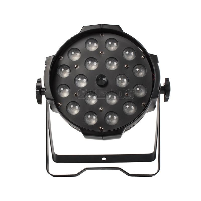 مصباح LED Par 18x18W مع وظيفة التكبير ، 10-60 درجة ، باهتة ناعمة ، RGBWA UV 6 في 1 ، تغيير اللون ، المسرح الاحترافي Dj