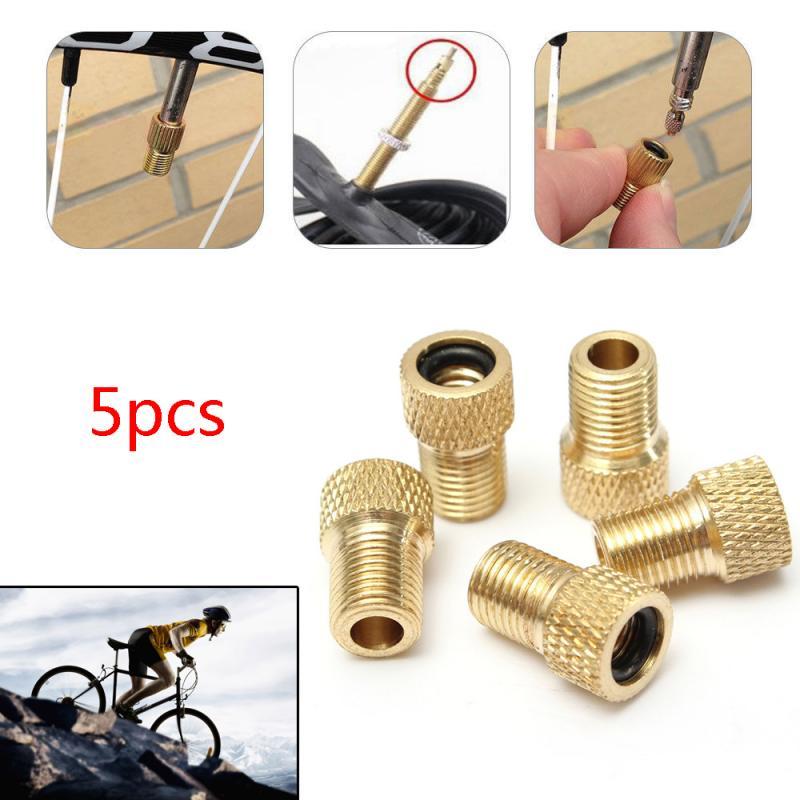Adaptador de válvula de aire para bicicleta, 5 uds., adaptador de llantas, boquilla de gas, accesorios