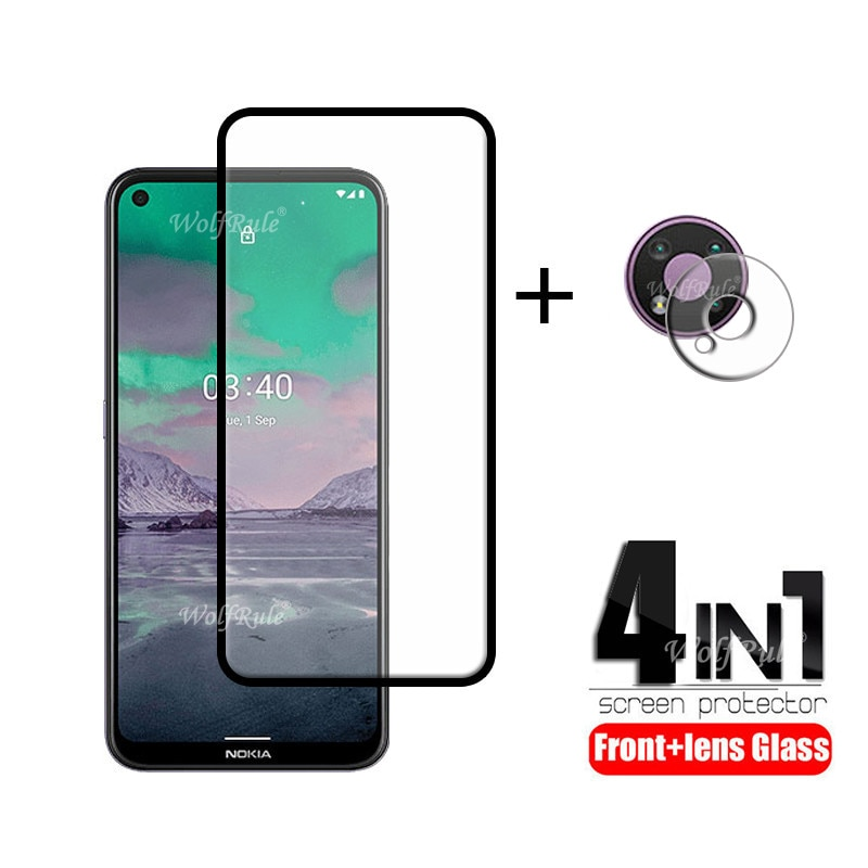 4-in-1 For Nokia 3.4 Glass For Nokia 3.4 Tempered Glass Full HD Screen Protector Protective Camera F