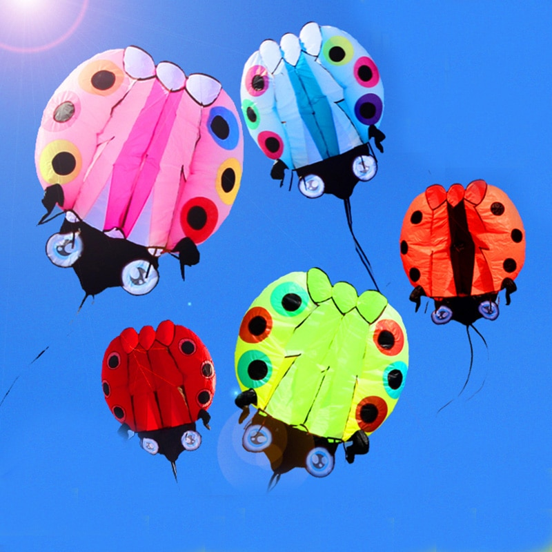 ¡Envío gratis! Cometa blanda 3D de mariquita grande, juguetes voladores para exteriores, cometas para adultos, cometa kitesurf, fábrica de cometas weifang