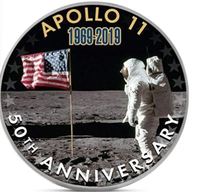 Apollo 11 50th Anniversary Silver Coin Collectibles Coins Challenge Coin US Medal Collector Dropshipping #12
