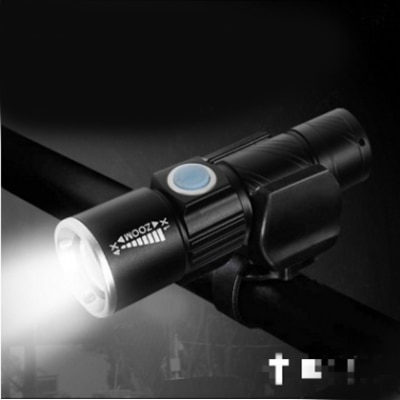 Mini USB Q5LED Flashlight Torch Outdoor Camping Light Rechargeable Waterproof Zoomable Lamp Bicycle 3 Mode Handy Flash Light
