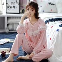 Pajamas Women\'s Spring and Autumn Island Velvet Warm Autumn and Winter Thin Type Flannel Coral Velvet Princess Style