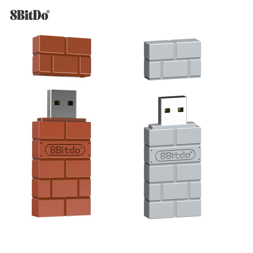 8Bitdo USB Wireless Bluetooth Adapter Receiver For Windows Mac For Nintend Switch For PS5 Controller For Windows Mac