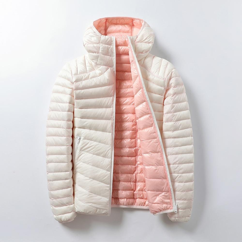 Женские куртки, брендовые пуховики, женские ультрасветильник кие женские Куртки из искусственной кожи с перьями, двустороннее теплое пальт...