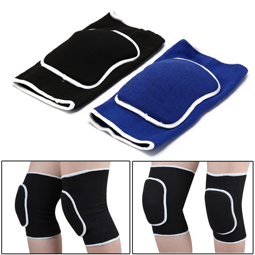 1PC Sport And Fitness Elbow&Knee Pads Knitted Thick Sponge Basketball Volleyball Crash Support Brace