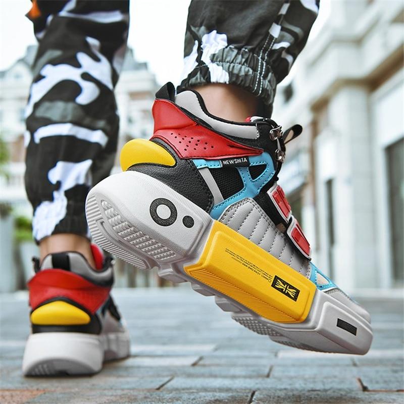 Zapatos informales para hombre, Zapatillas altas, calzado para hombre 2019