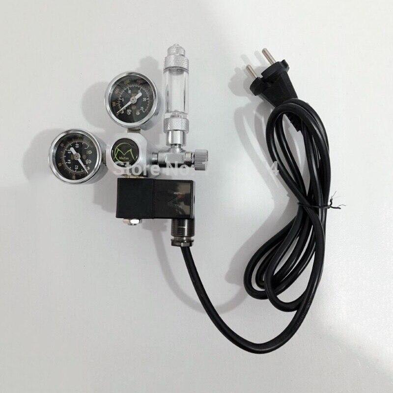 Válvula de Verificação Tanque de Peixes Aquário Regulador Solenóide Magnético Bolha Contador W21.8 Água Planta Controle ue ru 220v Co2