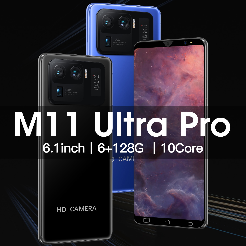 M11U 6+128GB Smartphone Android10 MTK6889 8 Core Featured Phone 16MP+32MP Camera Unlocked Cell Phones Dual SIM 4800mAh