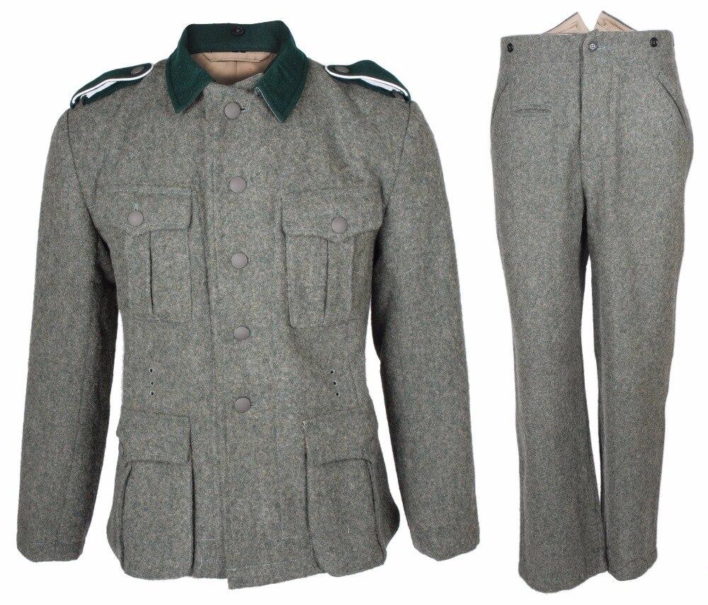 Segunda guerra mundial exército alemão 1936 m36 em lã campo uniforme túnica e calças ww2 uniforme militar guerra reencenações 5605101