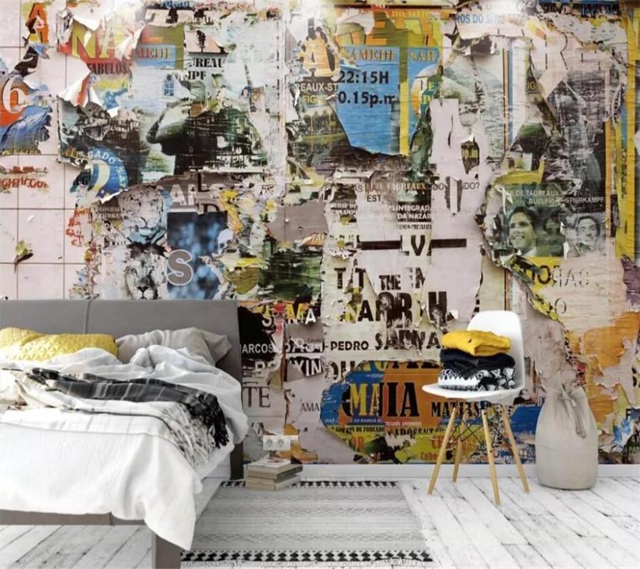 Wellyu-papel de pared personalizado, mural fotográfico 3d, póster nostálgico de estilo europeo...