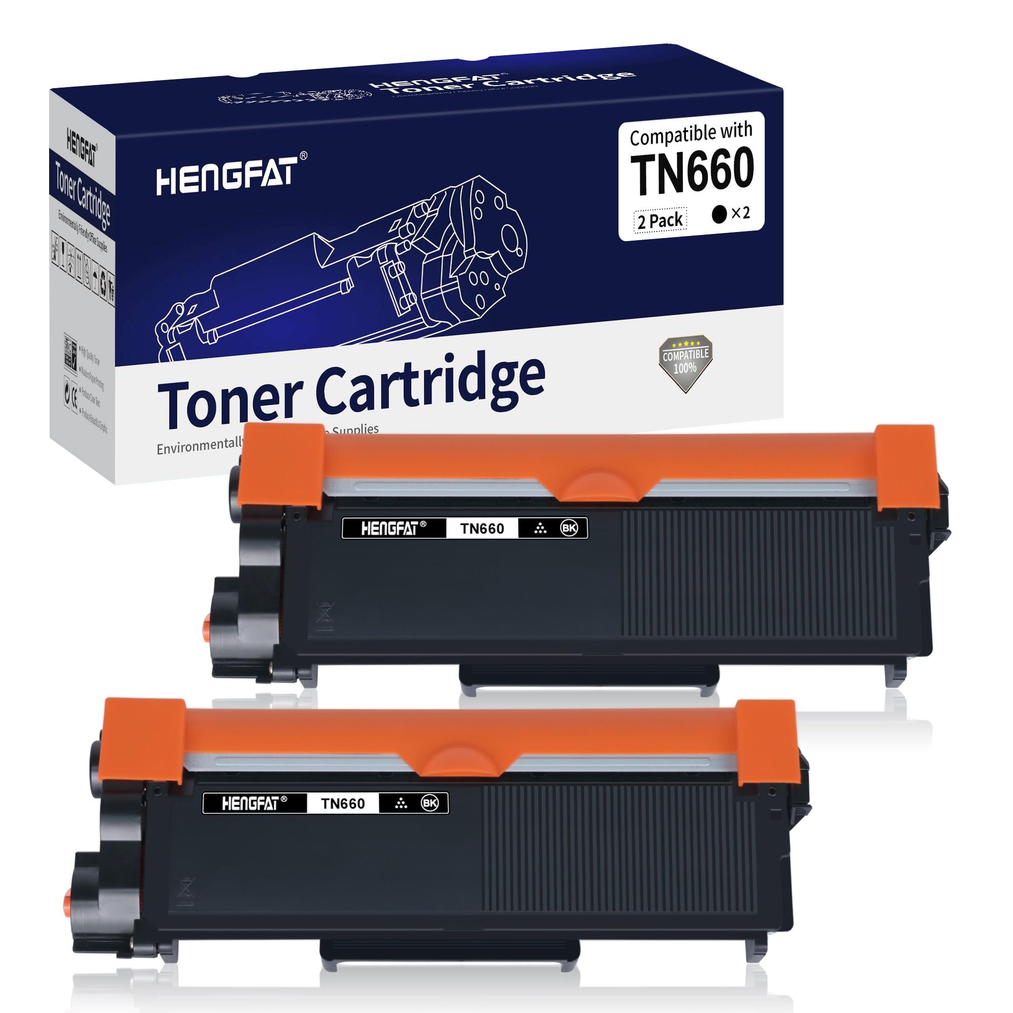 TN660 2 حزمة مسحوق حبر متوافق خرطوشة استبدال لأخيه TN-660 لاستخدام HL-L2300D HL-L2320D HL-L2340DW HL-L2360DW