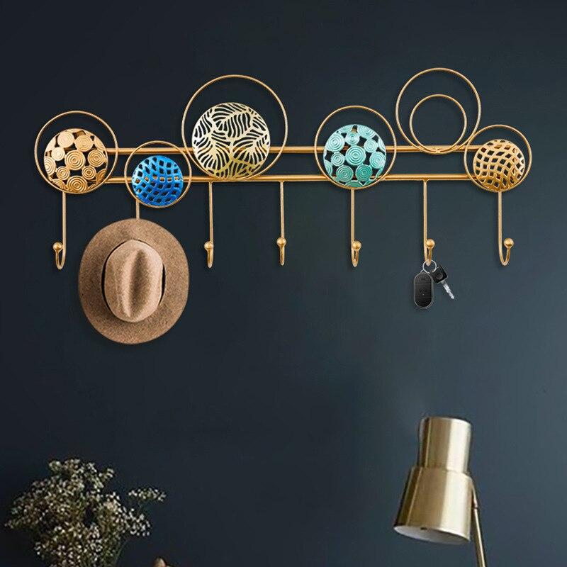 Colgador de pared de lujo de hierro ligero para decoración de pared, gancho para corona para sala de estar o porche, colgador de pared sin agujeros