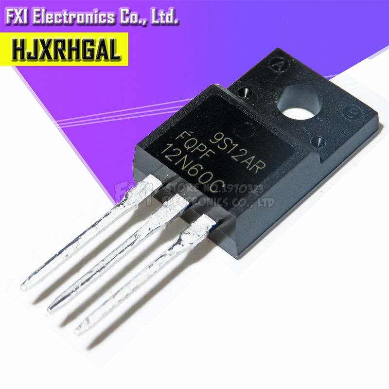 Free shippin 10pcs/lot FQPF12N60C 12N60 12A / 600V N-channel MOSFET original authentic