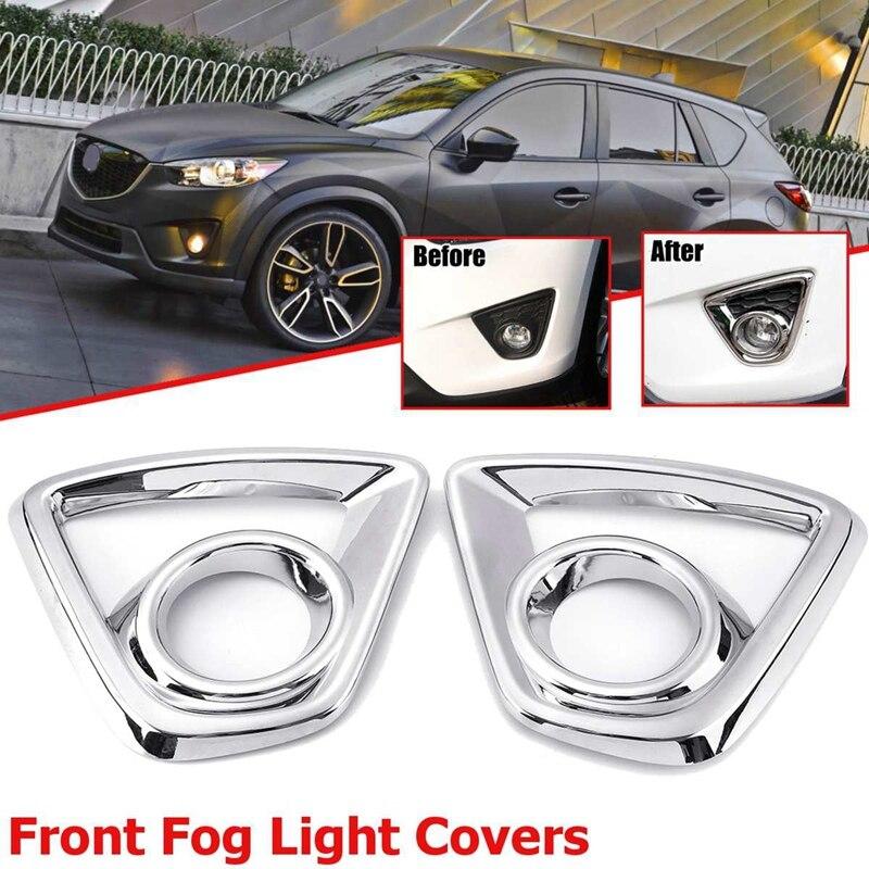 Parachoques de luz antiniebla cromado para Mazda Cx-5 Cx5 2013-2015 luces traseras de coche Marco de sombra de lámpara cubierta de estilo