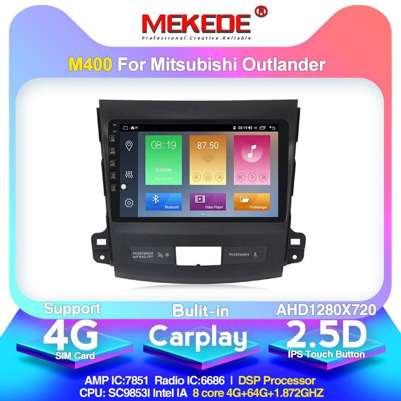 2din Octa core Android 10 4G + 64G 4G lte Radio de coche reproductor Multimedia navegación GPS para Mitsubishi Outlander xl 2 2005-2011 DSP