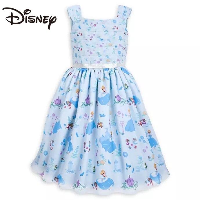 Disney Cinderella Cartoon Printed Skirt Girl Dress Princess Dress skirts for women Cartoon Ball Gown long skirts for women