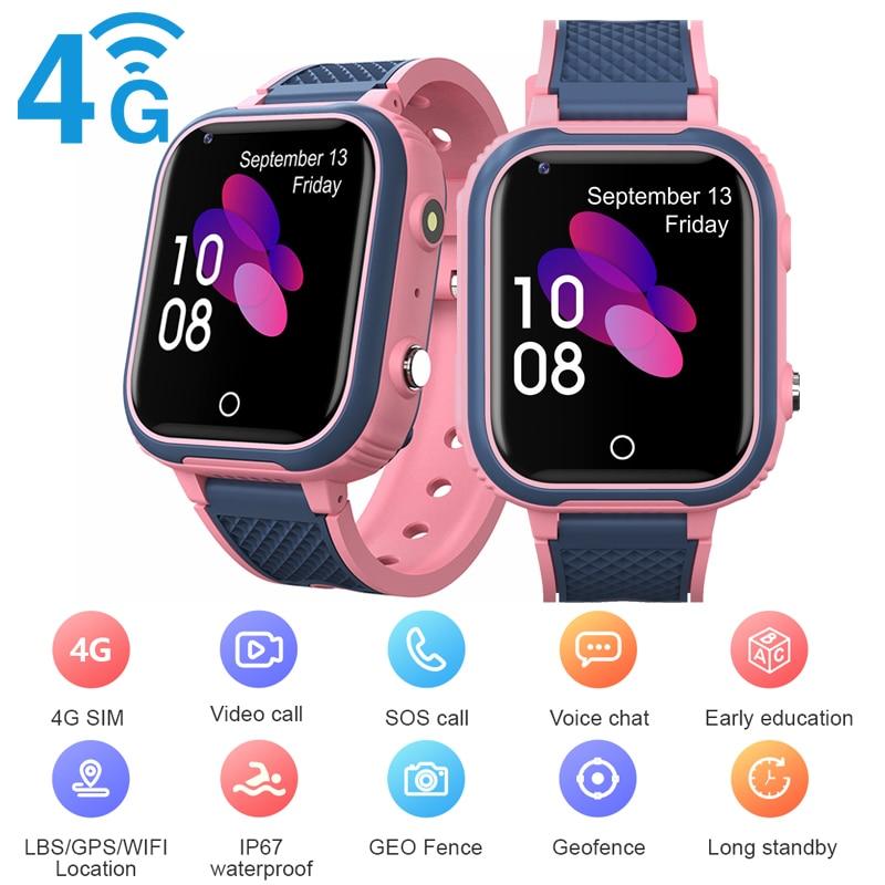 4G Sim Video Call Smart Watch GPS Wifi Tracker Smart Phone Watch IP67 Waterproof Kids Smart Watch Ca