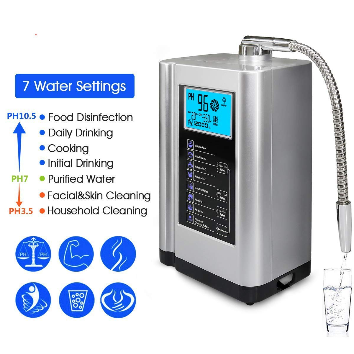 EHM Alkalize Device Alkaline Ionized Water Machine enlarge