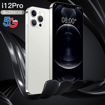"Phone i12 Pro 6.7"" Global Version Smartphone Dual SIM Andriod10 Snapdragon888 12GB RAM 512GB ROM32MP 6800mah Mobile Cell phone"