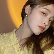 Design Retro Kong Style Metal Ear Ring Korean Generous and Personalized Net Red Tide Ear Studs All-M
