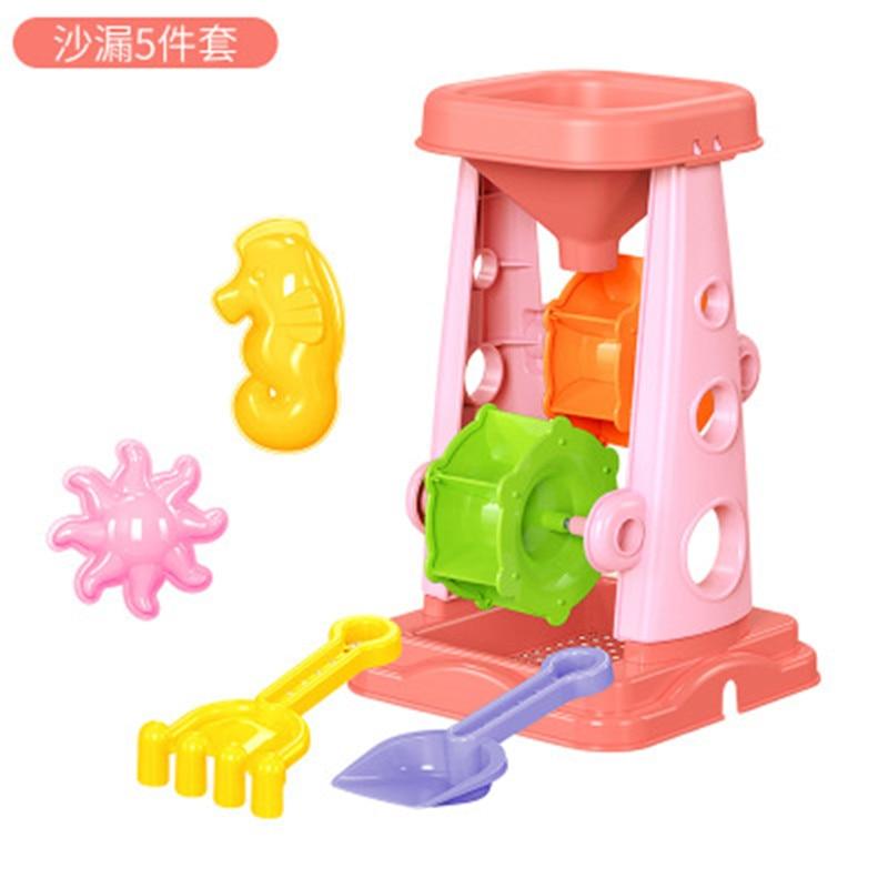 Sablier 5 pièces ensemble explosion modèles enfants plage jouets été jouer eau parent-enfant interactif jouets cadeau bébé anniversaire