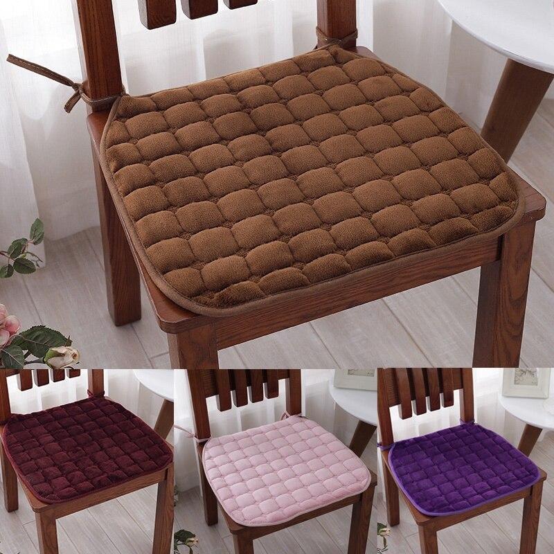 Подушка на стул для дома и офиса с галстуками, обеденные стулья, Нескользящая подушка на стул для кухни и столовой, подушка на стул 15x15 дюймов обеденные группы из стекла для кухни