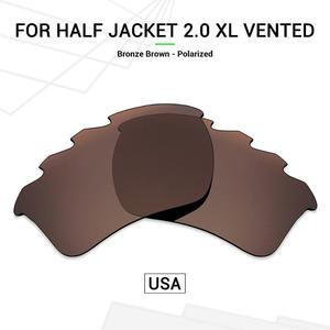 Mryok POLARIZED Replacement Lenses (from USA)  for Oakley Half Jacket 2.0 XL Vented Sunglasses Bronze Brown