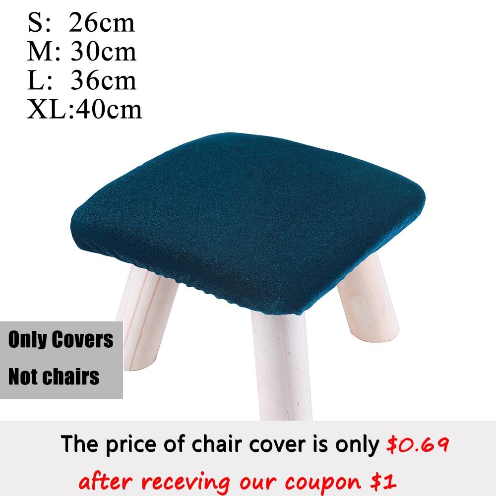 Funda de Taburete cuadrada para el hogar, cubierta de silla para sala...