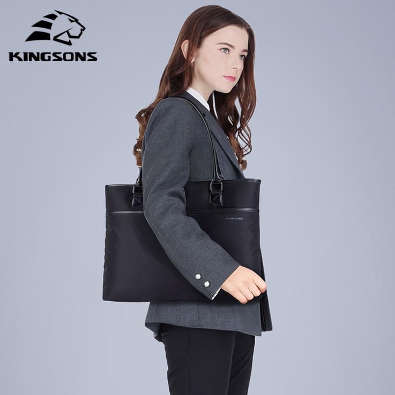 Kingson حقيبة يد للتسوق ديكور كبير المرأة حقيبة سوداء النايلون الفاخرة النساء حقائب الأعمال الإناث الاتجاه حقيبة كتف سيدة حقائب اليد