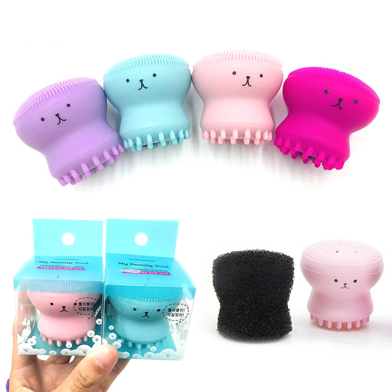 Silicone Small Octopus Wash Brush Beauty Cleaning Silicone Brushes Cleansing Instrument Face Washing
