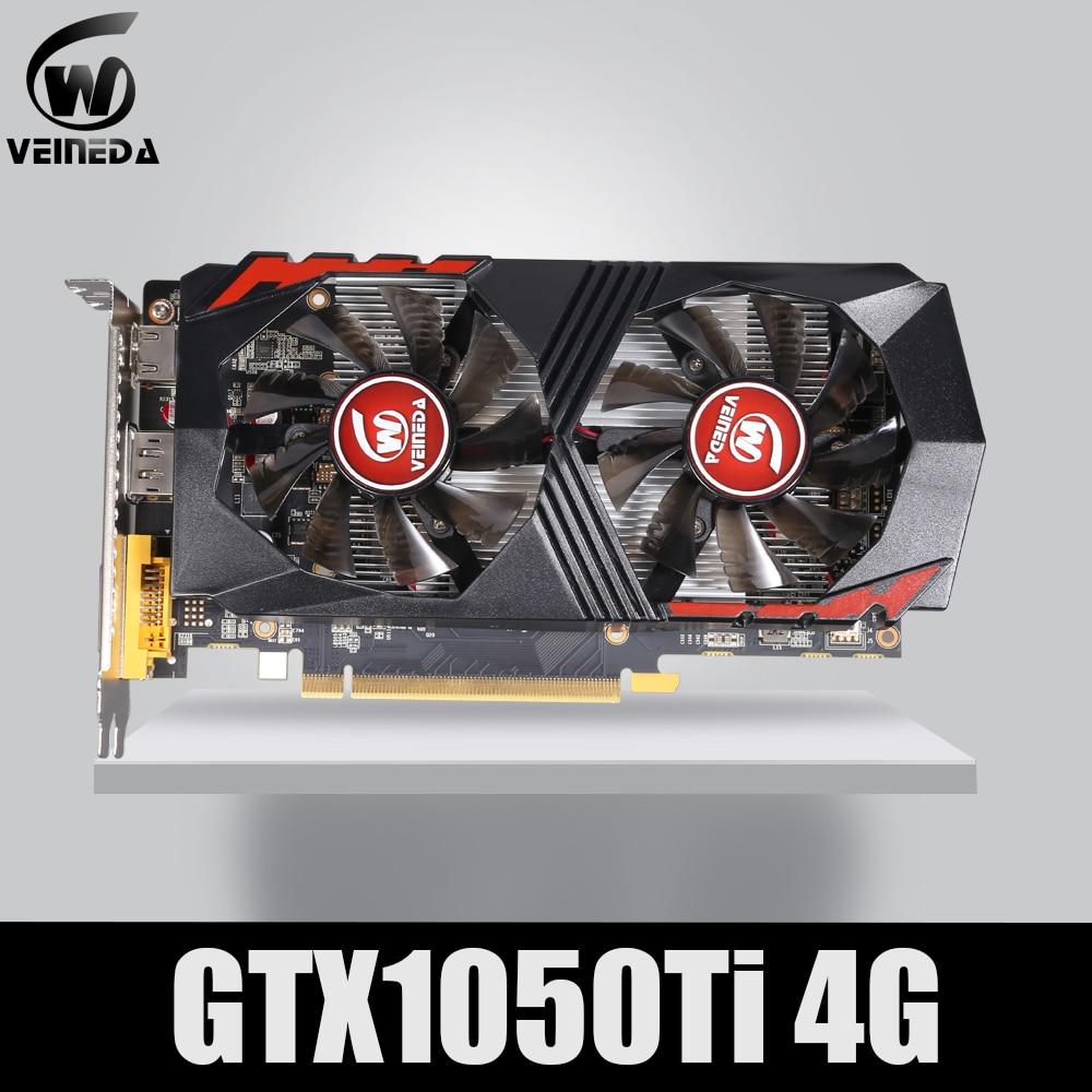 VEINEDA GraphicsCard GTX1050Ti GPU 4GB DDR5 PCI-E 128Bit for nVIDIAVGA Cards Geforce GTX1050ti