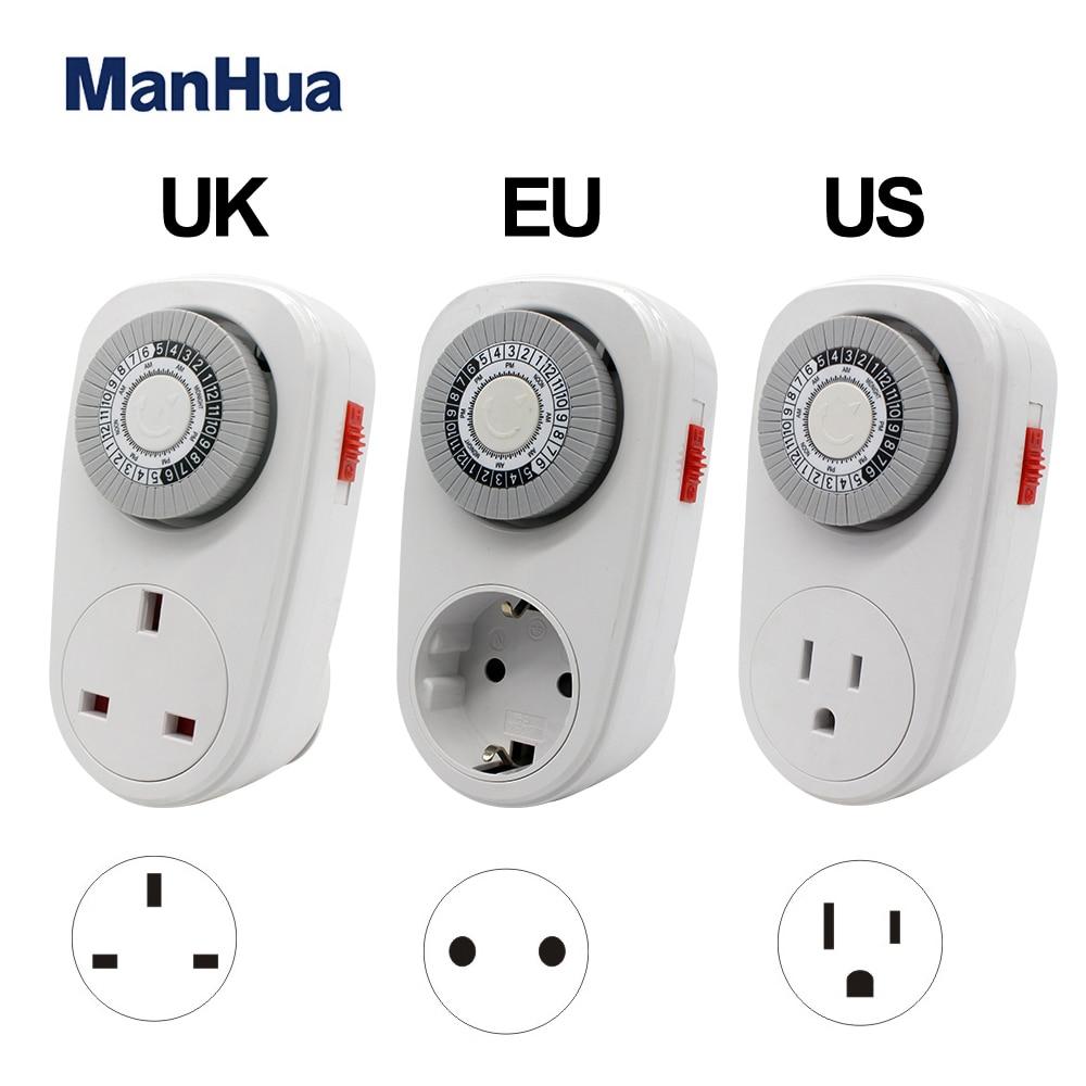 Manhua, Alemania, Plug-in 230VAC 16A Ω 02a, temporizador mecánico de cocina con ahorro de energía, interruptor para uso doméstico