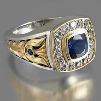 vintage fashion business ring with stone new metal inlaid zircon rings for men body decorations male gifts jewelry 2021 jewelry