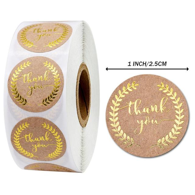 500Pcs Thank You Stickers Seal Labels for Gift Packaging