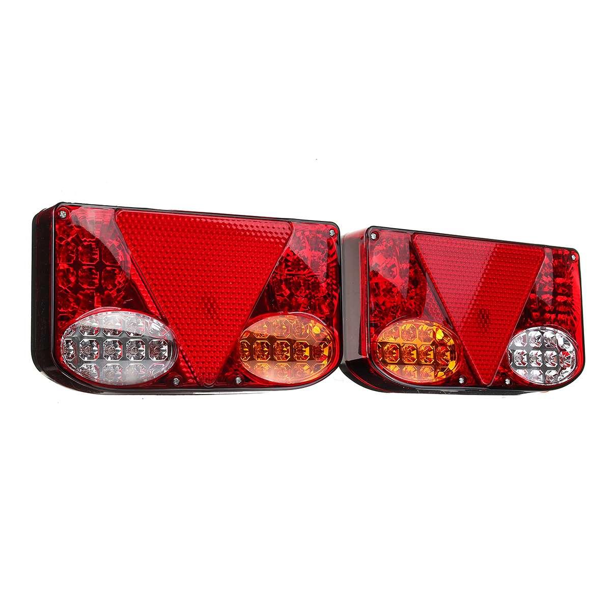 ضوء خلفي للسيارة LED ، مصباح الفرامل الخلفي ، إشارة الانعطاف للشاحنة ، مقطورة ، الشاحنة ، 12 فولت ، 2 قطعة