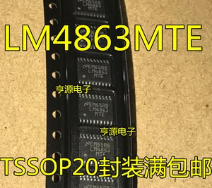 LM4863MTE LM4863MTEX LM4863 TSSOP20 audio audio amplifier IC chip