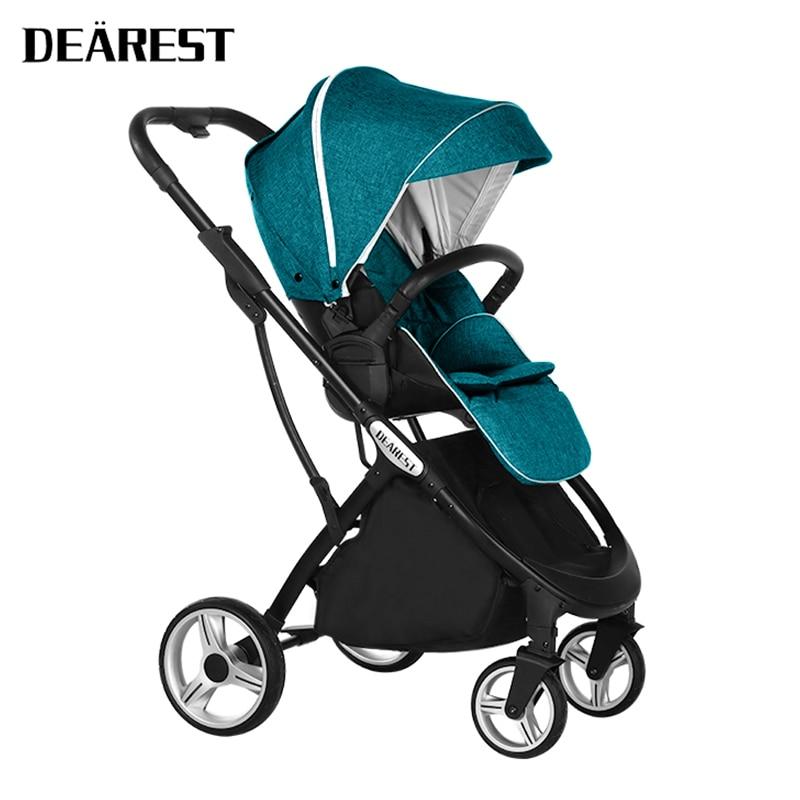 DEAREST 1108 Baby Stroller Dual-purpose Reclining Gram Foldable Portable Newborn Cradle