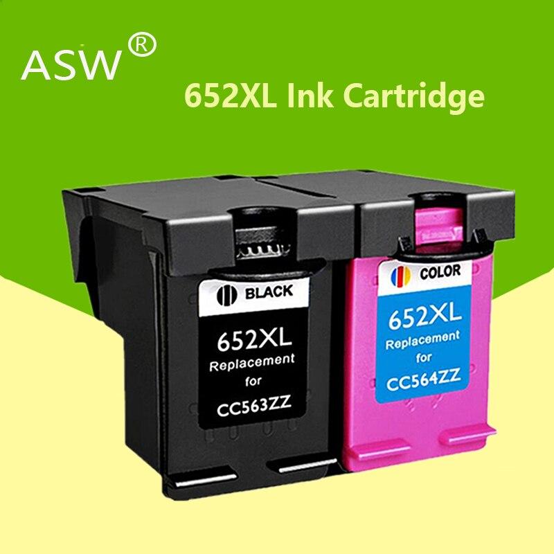 ASW 652XL 652 remplacement de cartouche dencre pour HP 652 XL pour HP Deskjet 1115 1118 2135 2136 2138 3635 3636 3835 4535 imprimantes