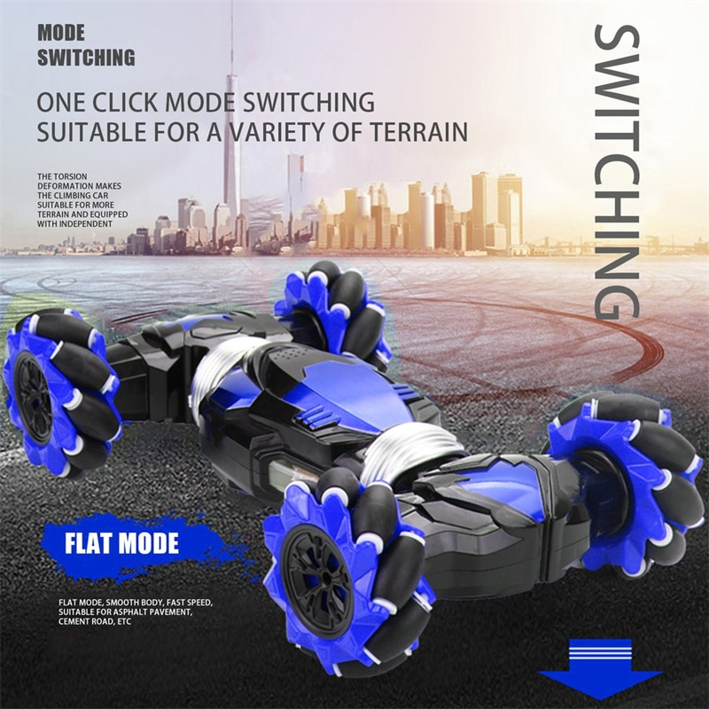 Remote control vehicle four-wheel drive radio control stunt vehicle gesture induction distortion off-road vehicle drift enlarge