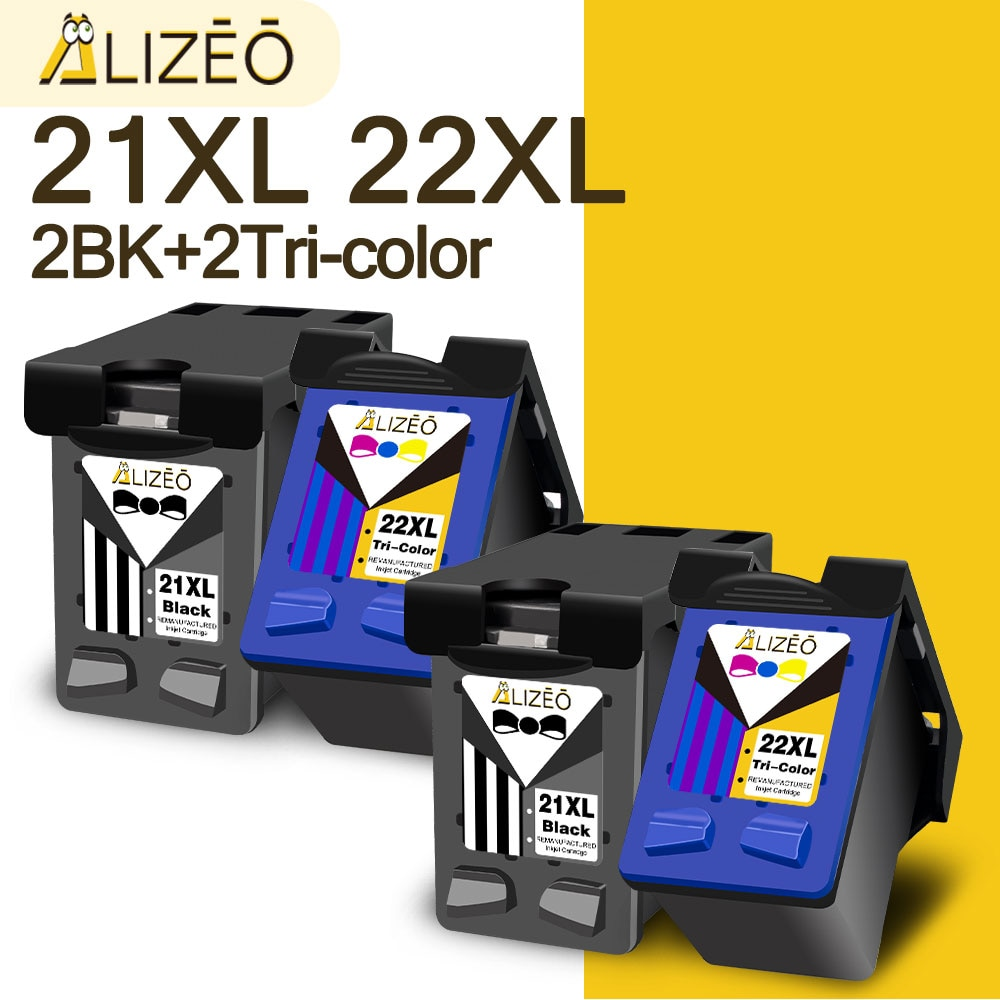 Картридж для принтера HP 21 22 21XL 22XL, 1-4 шт.