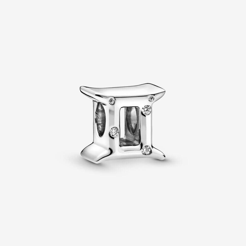 Cuentas de plata de ley 925 de moda se ajustan a pulseras Pandora originales brillantes Zodíaco Géminis encanto mujeres DIY joyería regalo
