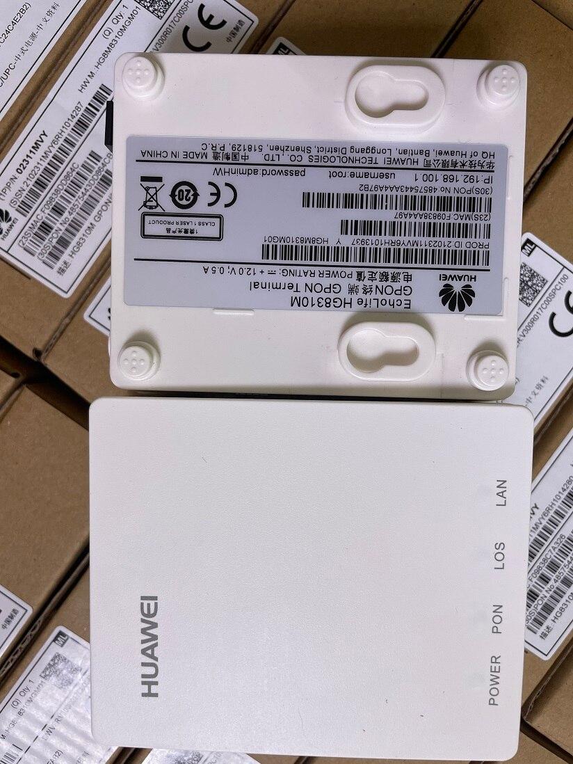 100% New Original HW Gpon ONU HG8310M ftth Fiber Optic HG8010H ont Router 1GE with power EPON No Box
